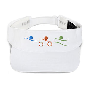Visor - Tri-Icons Colors Design Triathlon Inspires Store White