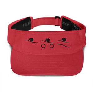 Visor - Tri-Icons Female Design (B) Triathlon Inspires Store Red
