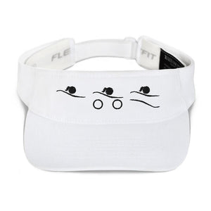 Visor - Tri-Icons Female Design (B) Triathlon Inspires Store White