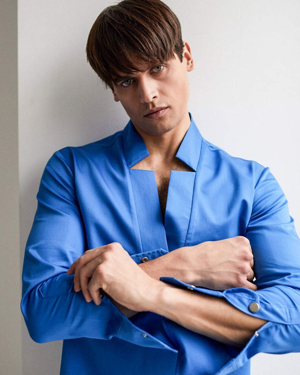 Star Neck Shirt - Blue