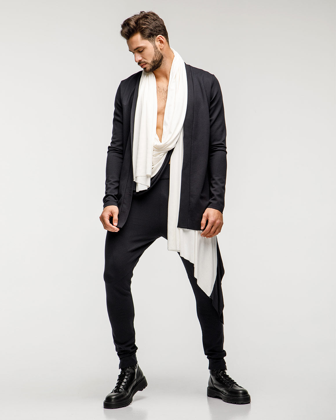 Aristotle Cardigan - White