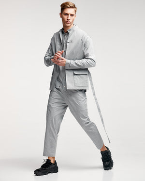 Cargo Jumpsuit - Grey