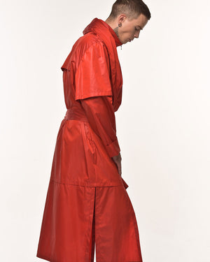 Red Sparrow Raincoat - Red