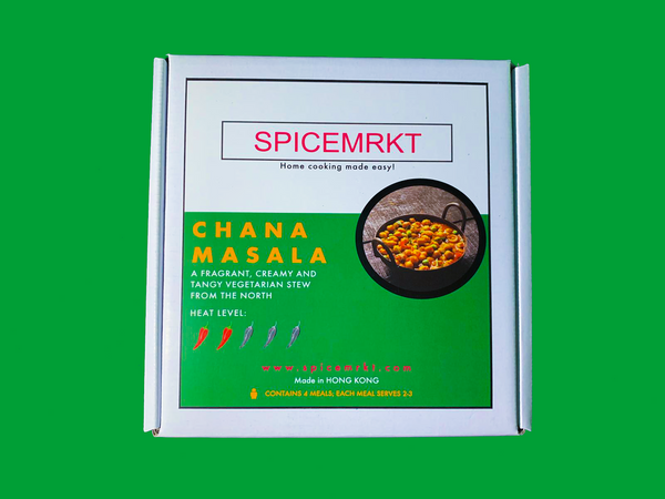 Chana Masala Spice Kit with 200g Basmati Rice
