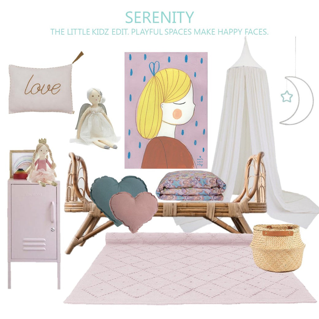 Kids Room Ideas.  Creating a Sweet And Serene Girls Bedroom