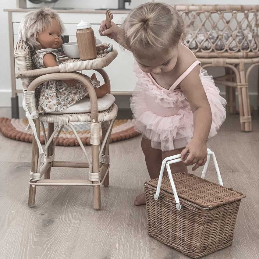 tiny h arlow creative play doll high chair at The Little Kidz Closet