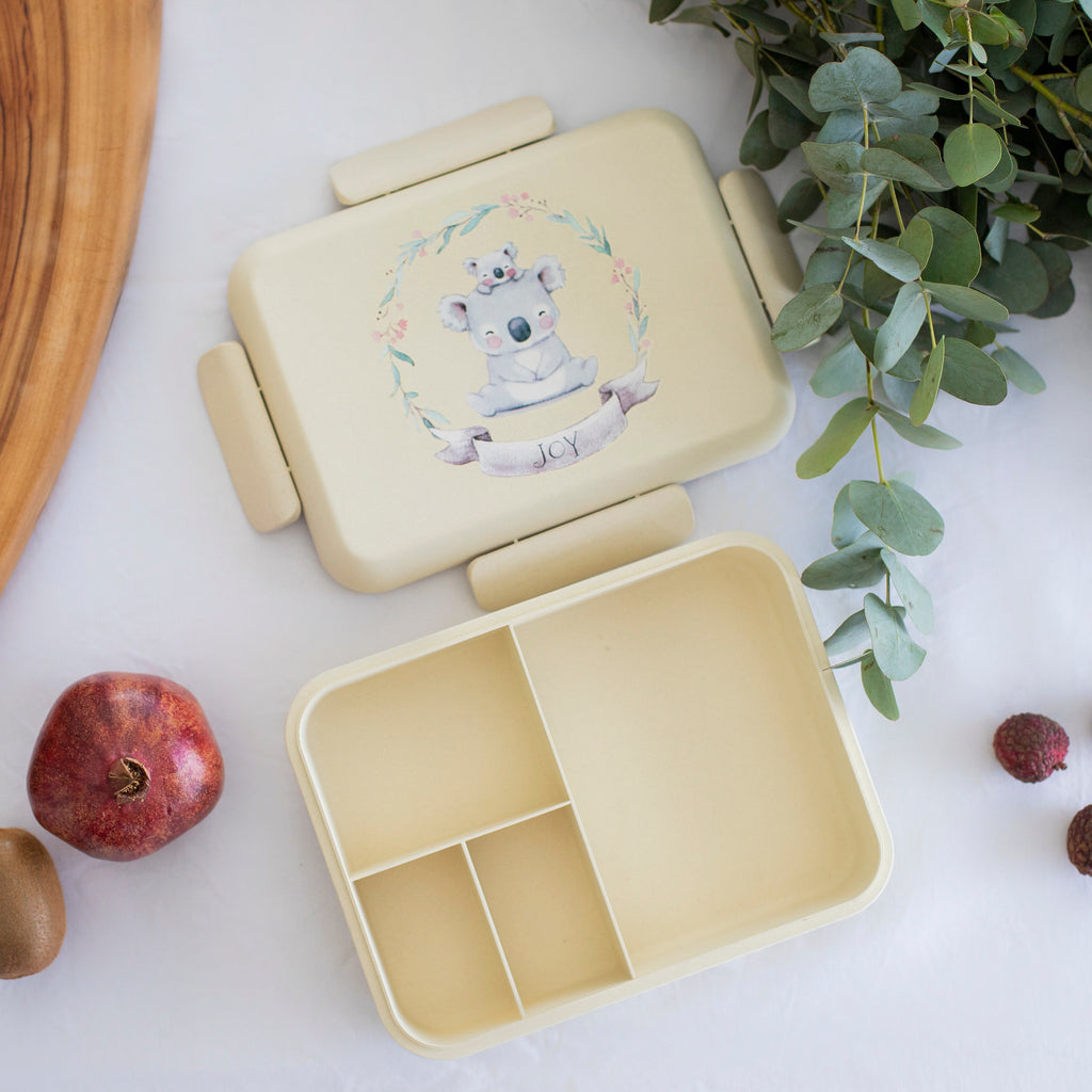 Boo and Crew Bamboo Bento Box Lunch Box  Koala Natural