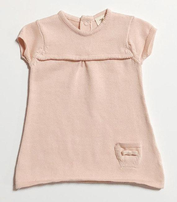 Viverano Organic Baby Milan Dress Top  Blush Pink