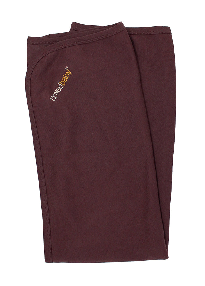 Loved Baby Organic Cotton Swaddle Blanket - Eggplant