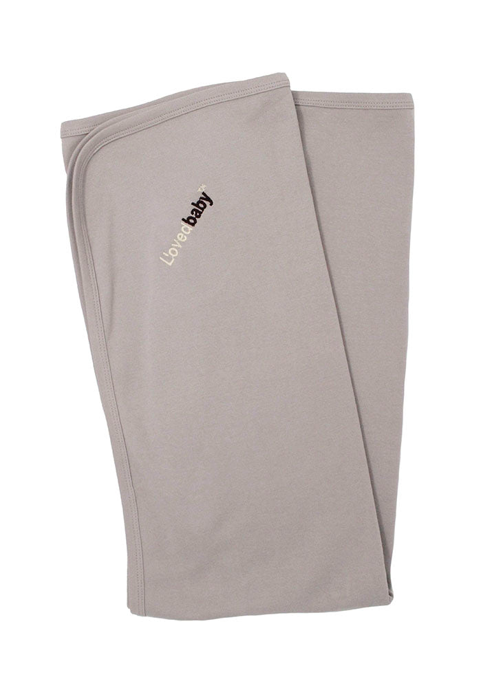 Loved Baby Organic Cotton Swaddle Blanket - Light Grey