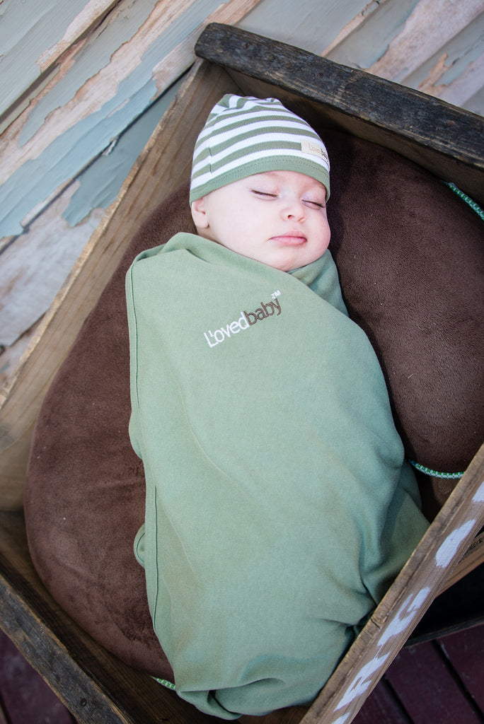 Loved Baby Organic Cotton Swaddle Blanket - Sage