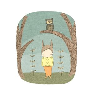 Nomuu Kids Wall Art  Owl and Bunny