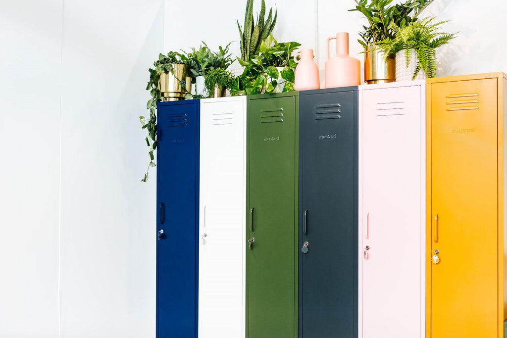 Mustard Made Metal Lockers - The Skinny in Berry