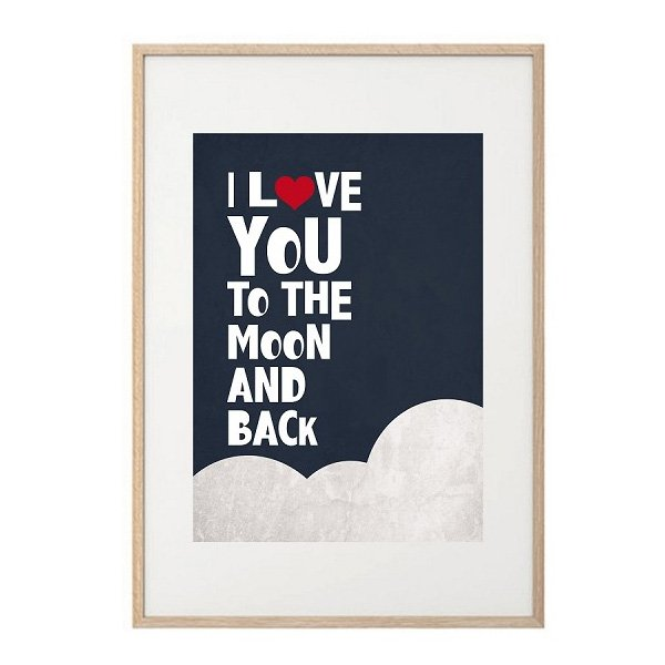May and Belle Kids Wall Art  Moon and Back