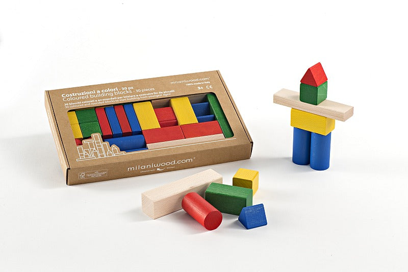 Milaniwood Coloured Wooden Block Set