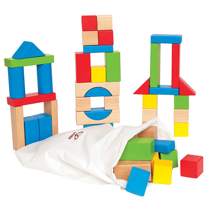 Hape Toys Maple Wood Colour Block Set