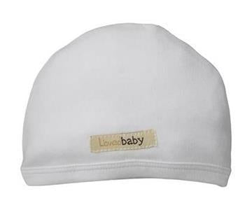 Loved Baby Organic Cotton Baby Cutie Cap  White