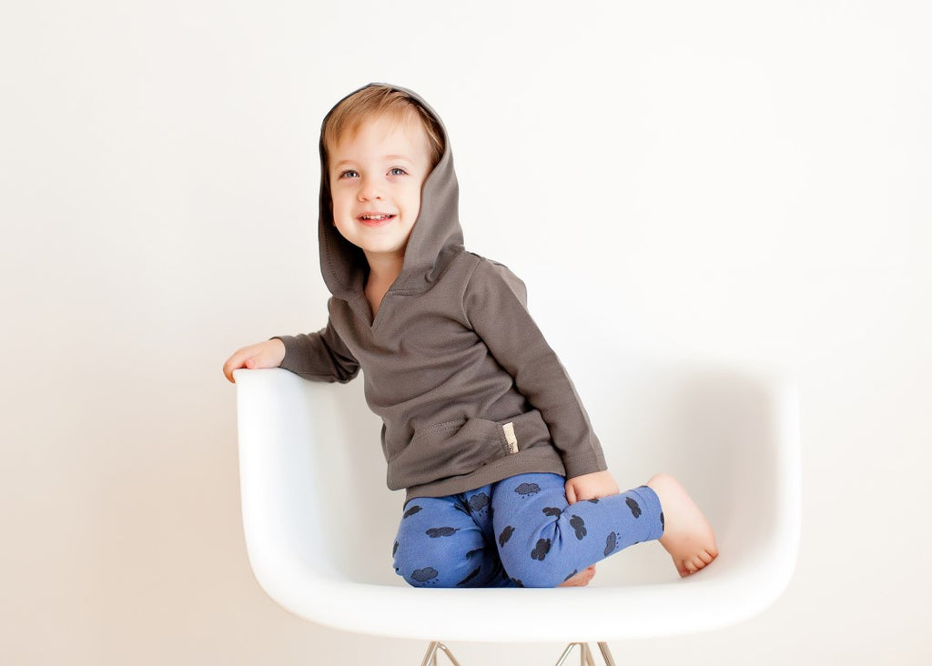 Loved Baby Organic Cotton Hoodie  Sage