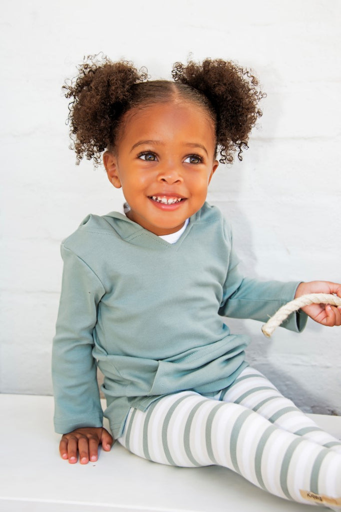 Loved Baby Organic Cotton Hoodie  Slate