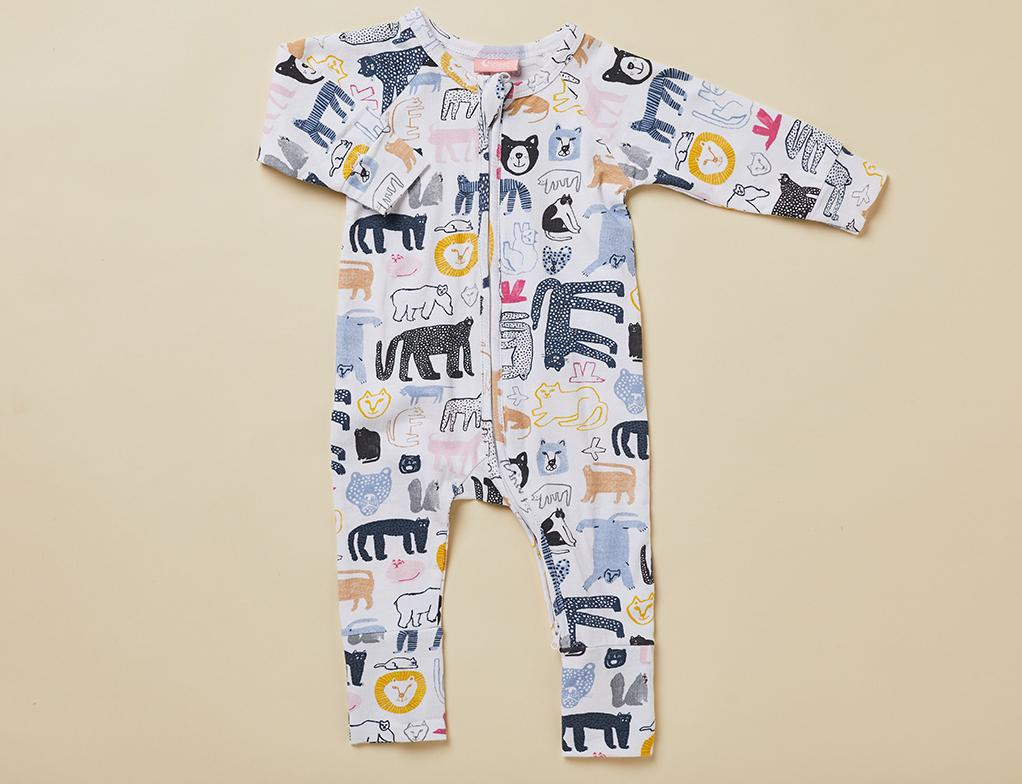 Halcyon Nights Baby Clothes  Tashirojima Longsleeve Onesie Zip Suit