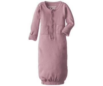 Loved Baby Organic Cotton Baby Gown  Mauve