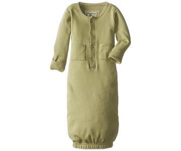Loved Baby Organic Cotton Baby Gown  Sage