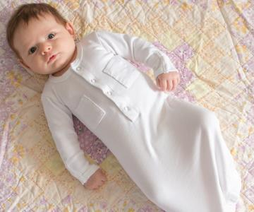 Loved Baby Organic Cotton Baby Gown  Light Grey