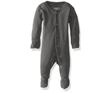 Loved Baby Organic Footed Onesie - Grey