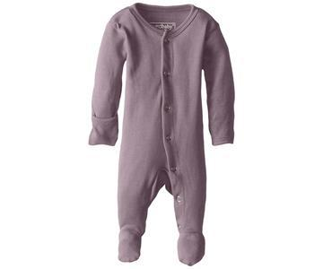 Loved Baby Organic Cotton Footed Onesie - Lavender
