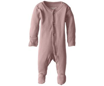 Loved Baby Organic Footed Onesie Mauve