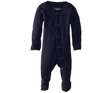 Loved Baby Organic Cotton Footed Onesie  Navy