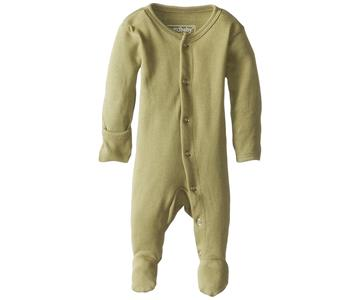 Loved Baby Organic Cotton Footed Onesie  Sage