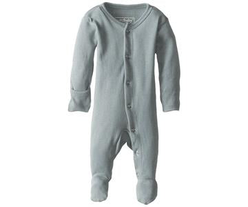 Loved Baby Organic Footed Onesie Seafoam