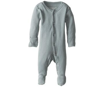 Loved Baby Organic Cotton Footed Onesie  Seafoam