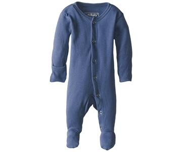Loved Baby Organic Cotton Footed Onesie  Slate