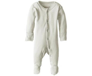 Loved Baby Organic Footed Onesie - Stone