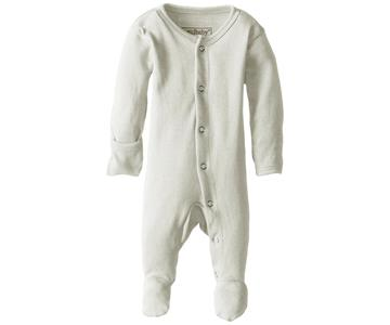 Loved Baby Organic Cotton Footed Onesie  Stone