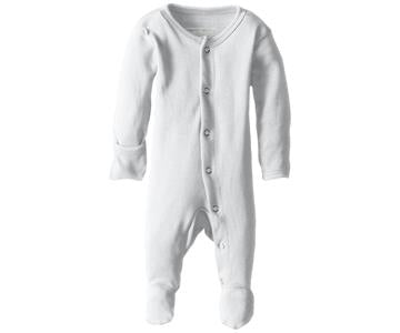 Loved Baby Organic Footed Onesie White