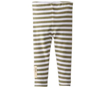 Loved Baby Organic Leggings Sage Stripe