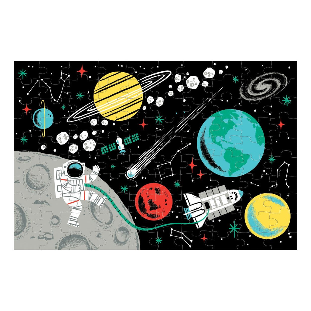 100 Piece Glow Puzzle Outer Space