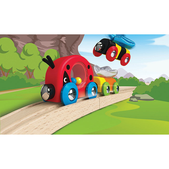 Hape Toys   Ladybug, Butterfly and Bee Jingle Train