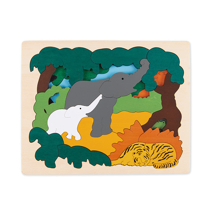 George Luck Asian Animals Wooden Puzzle 30 Pieces