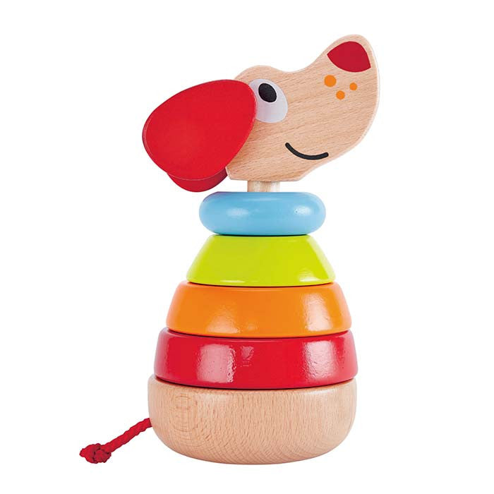 Hape Toys - Pepe the Dog 6 Piece Sound Stacker