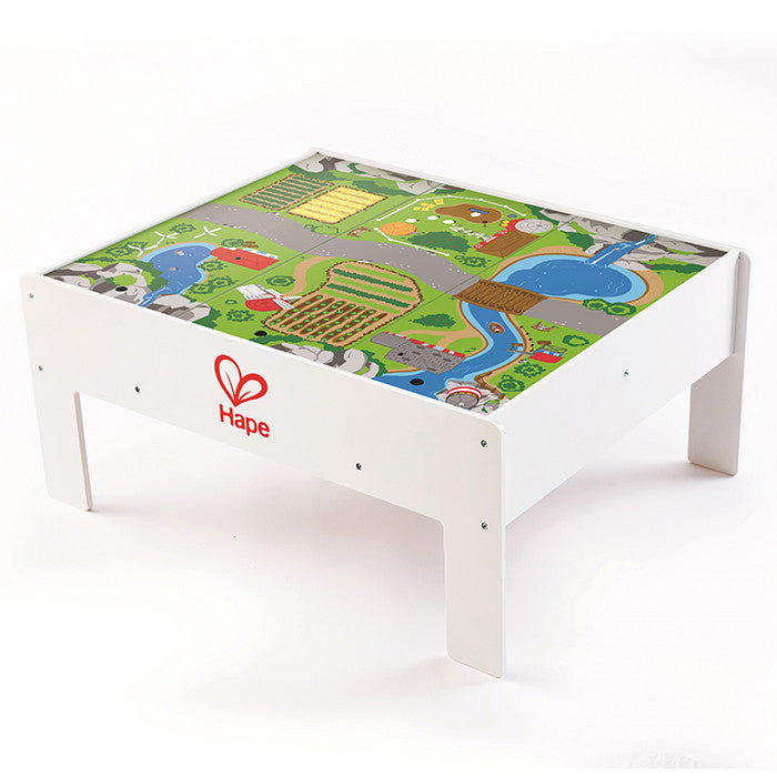 Hape Toys  Reversible Train Table & Storage