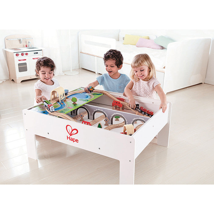 Hape Toys - Reversible Train Table & Storage