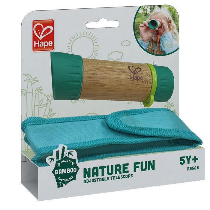 Hape Toys  Bamboo Adjustable Kids Telescope
