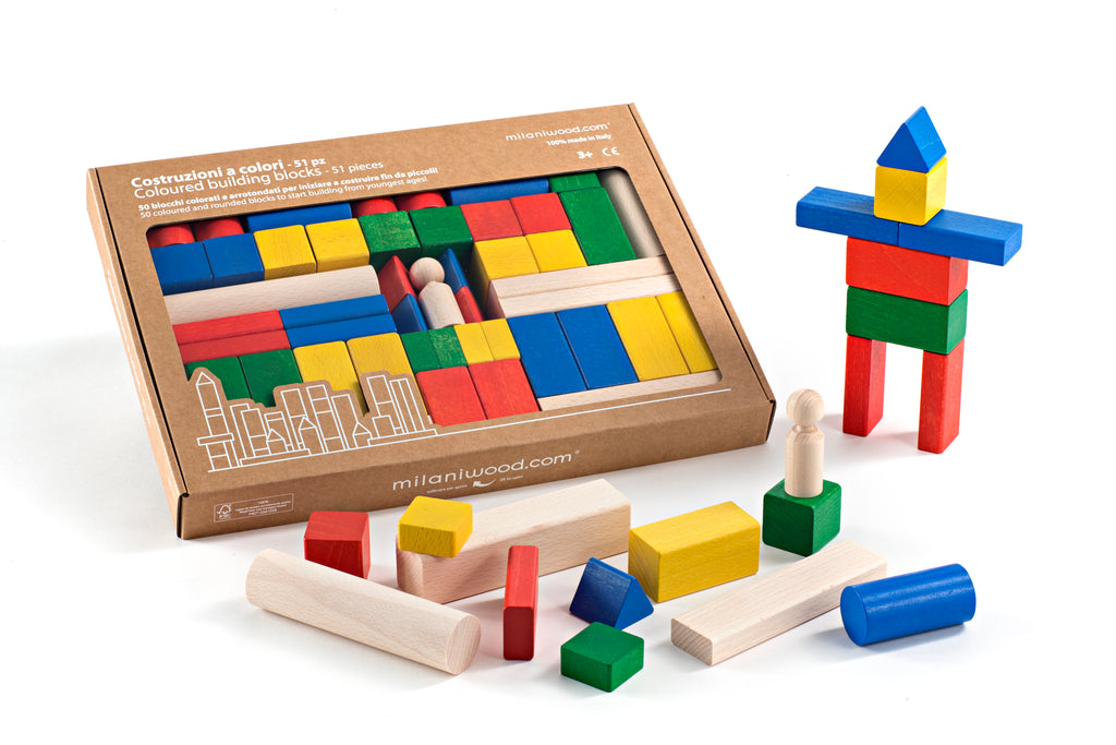 Milaniwood Coloured Block Set