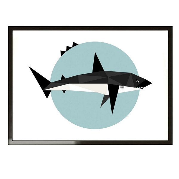May and Belle Kids Wall Art  Mr Shark