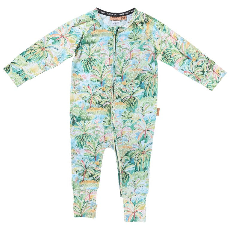 Kip and Co Organic Baby Zip Onesie - Colombo