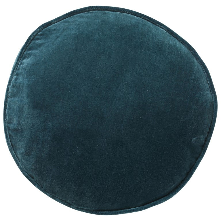 Kip & Co Velvet Pea Cushion - Green Sea